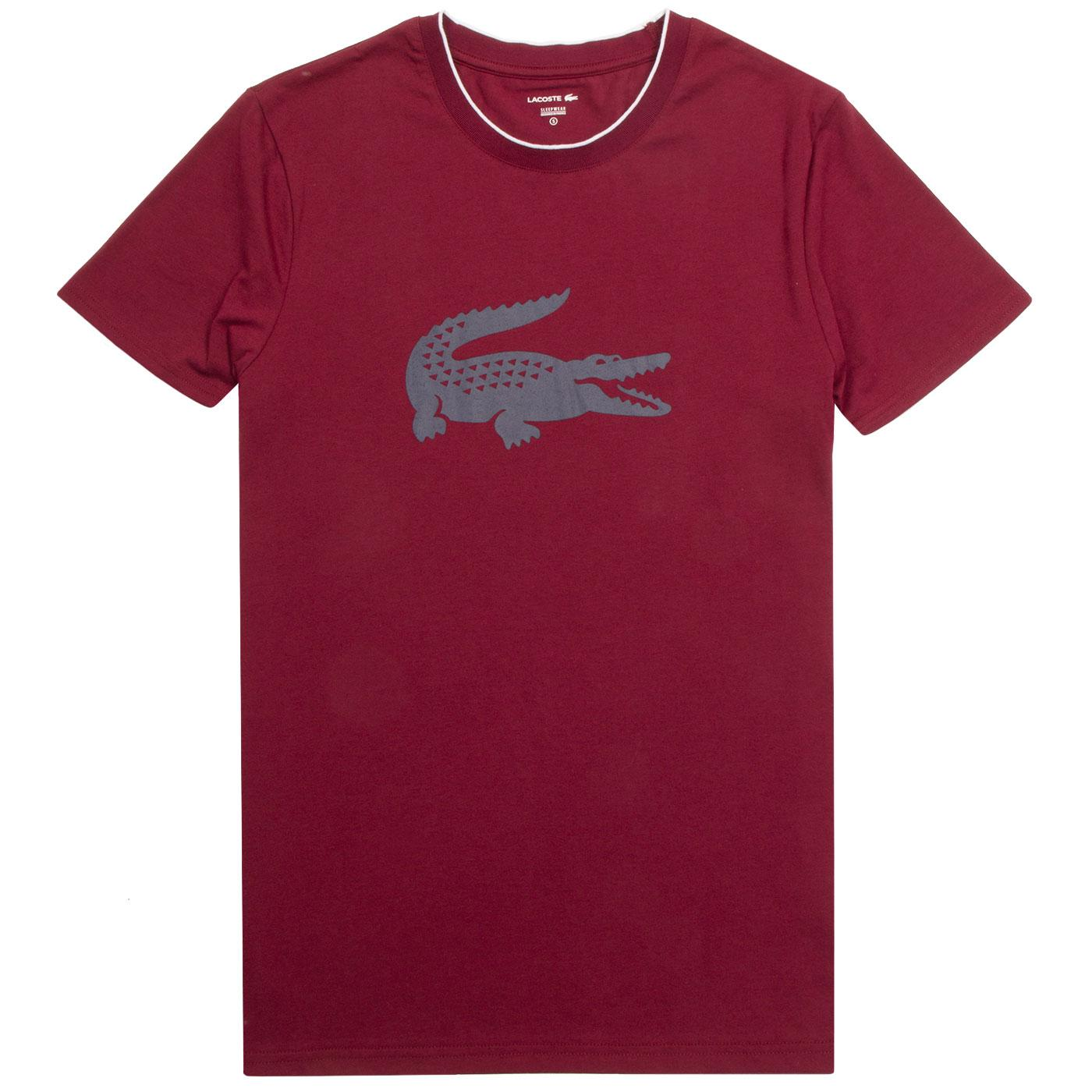 LACOSTE Retro Tipped Crew Neck Loungewear Tee DR