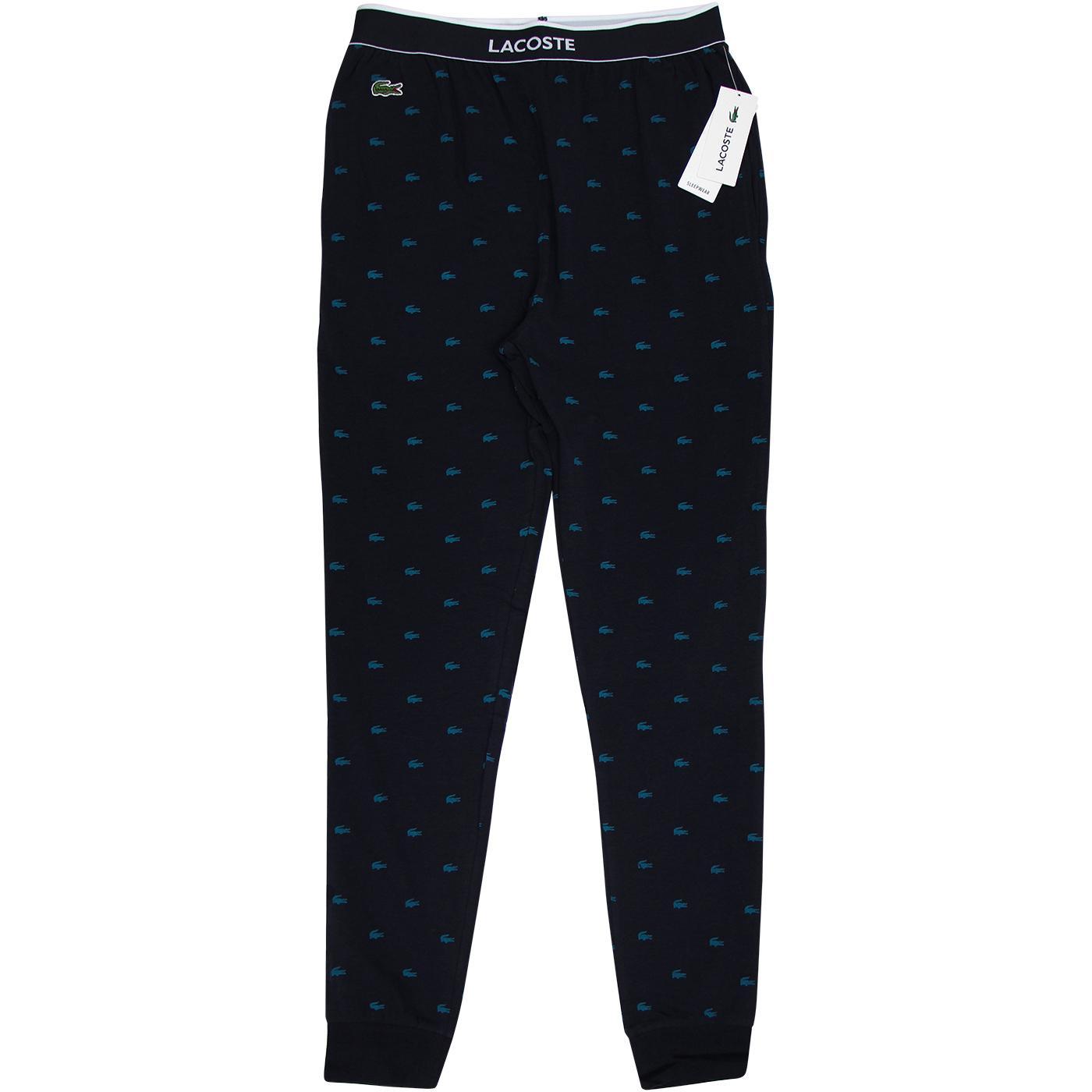 LACOSTE Men's Crocodile Lounge Pants (Night Blue)