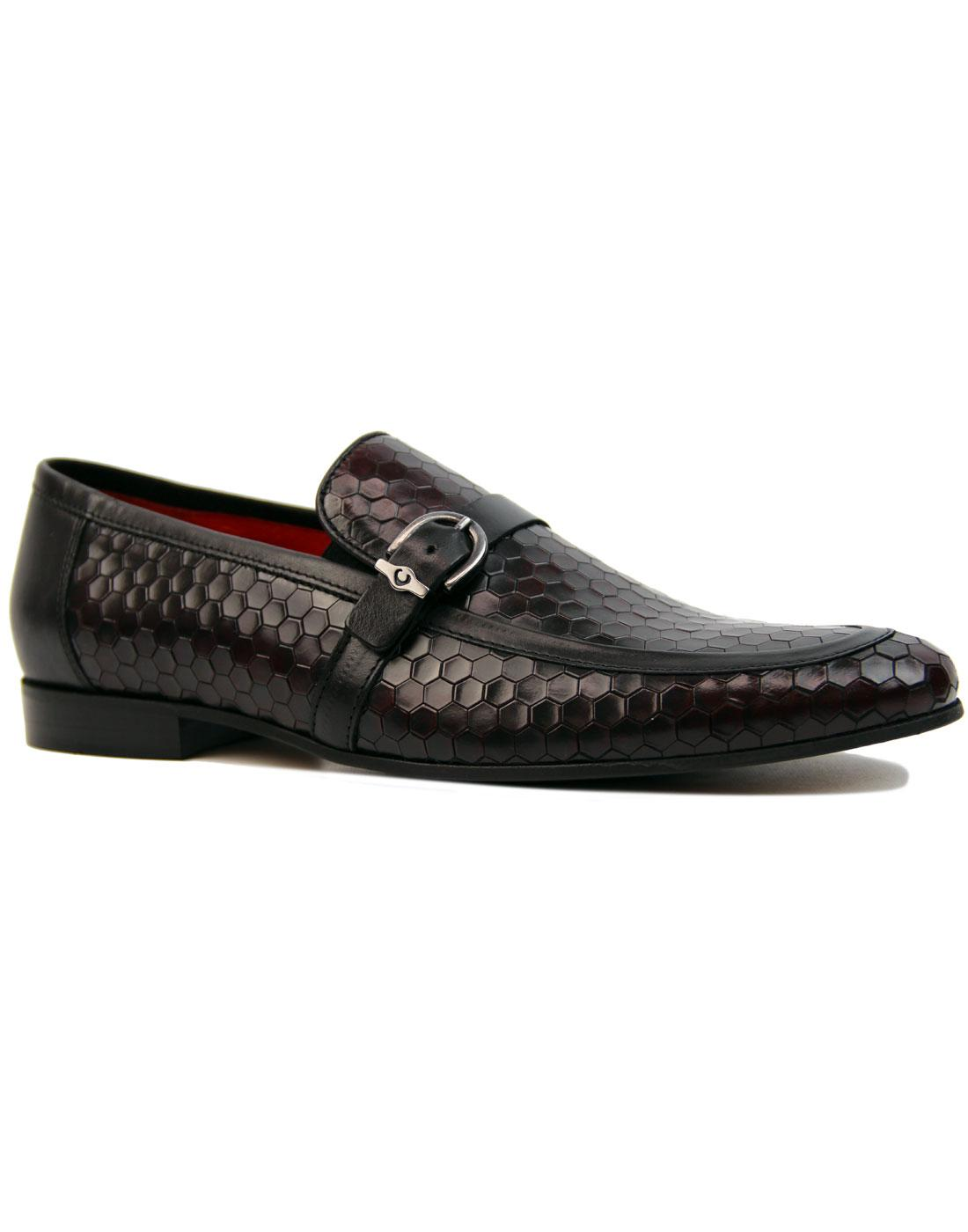 Lane LACUZZO Mod Honeycomb Leather 2 Tone Loafers