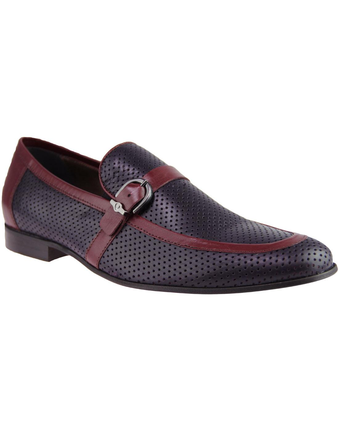Lane LACUZZO 60s Mod Perf 2 Tone Loafers PURPLE