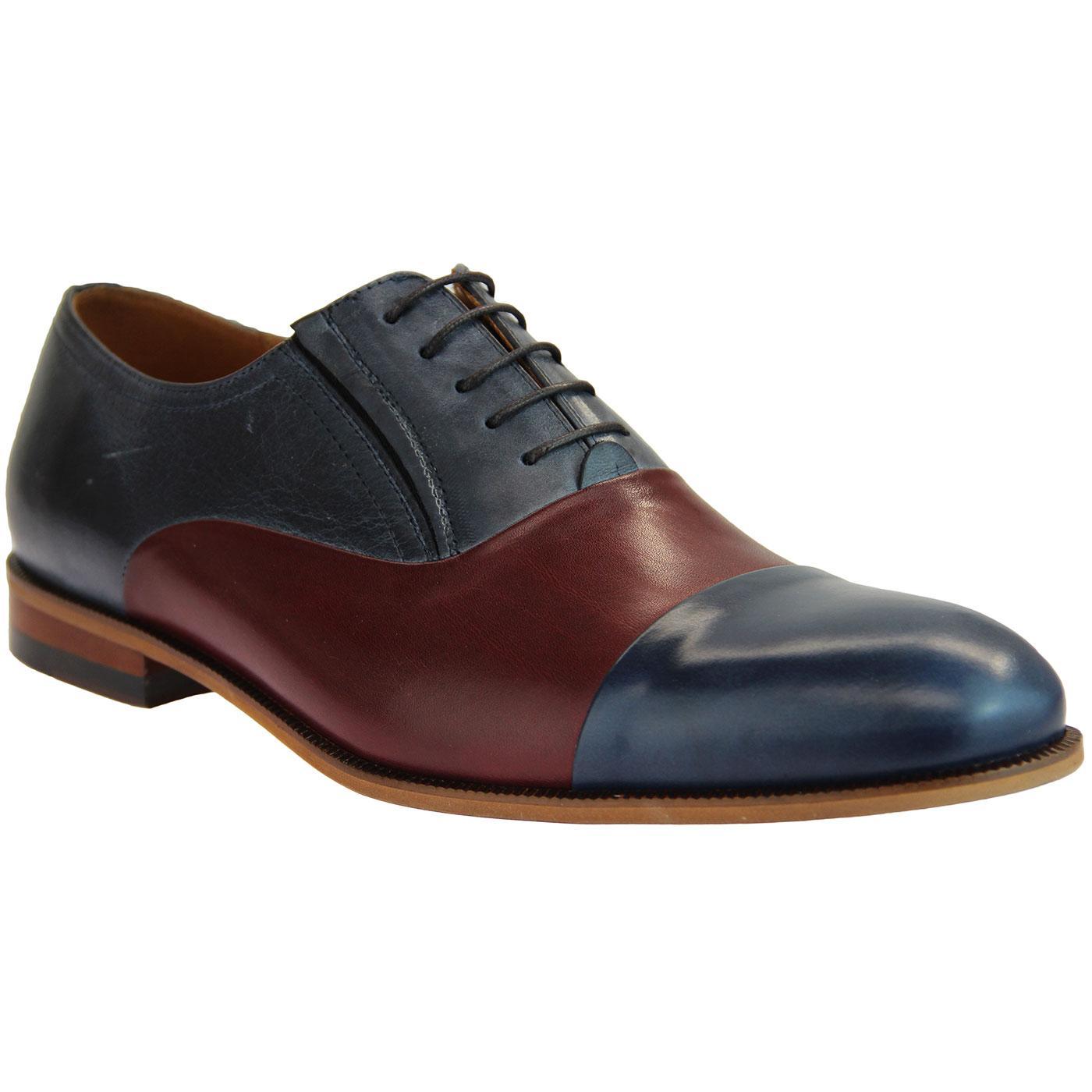 LACUZZO Retro 60s Spatz Style Smart Oxford Shoes