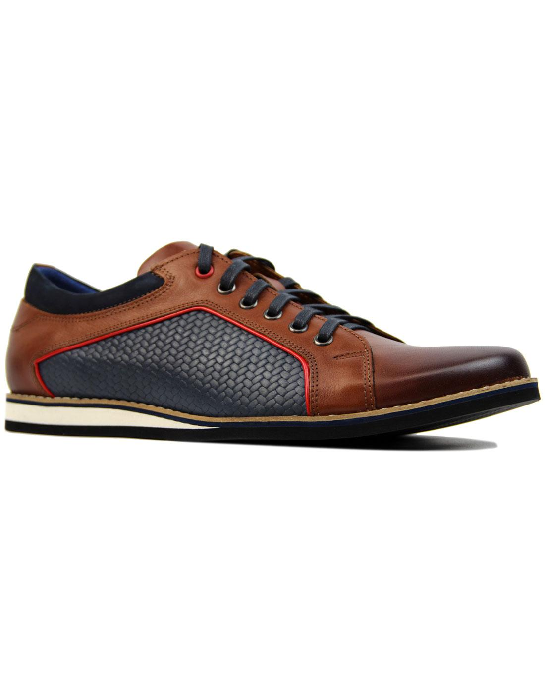 LACUZZO Retro Weave Northern Soul Trainer Shoes