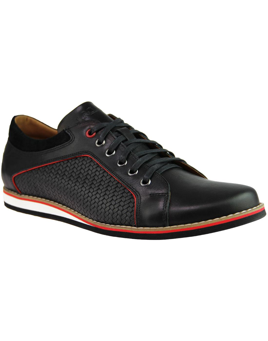 LACUZZO Retro Weave Northern Soul Trainer Shoes B