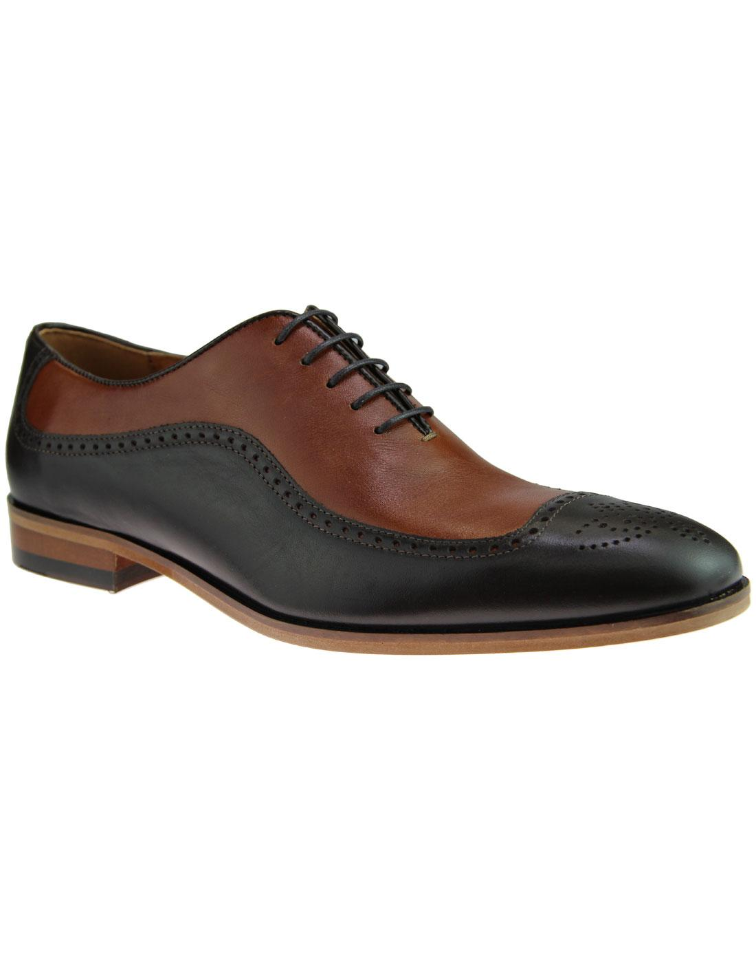 LACUZZO 1960s Mod Spatz Style Oxford Brogue Shoes