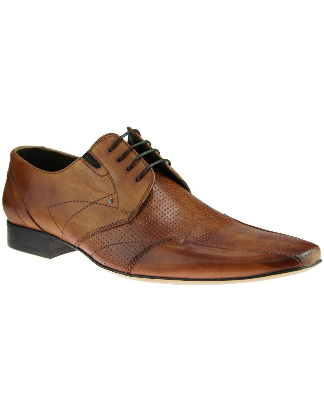 LACUZZO Retro Swarovski Blue Crystal Derby Shoes