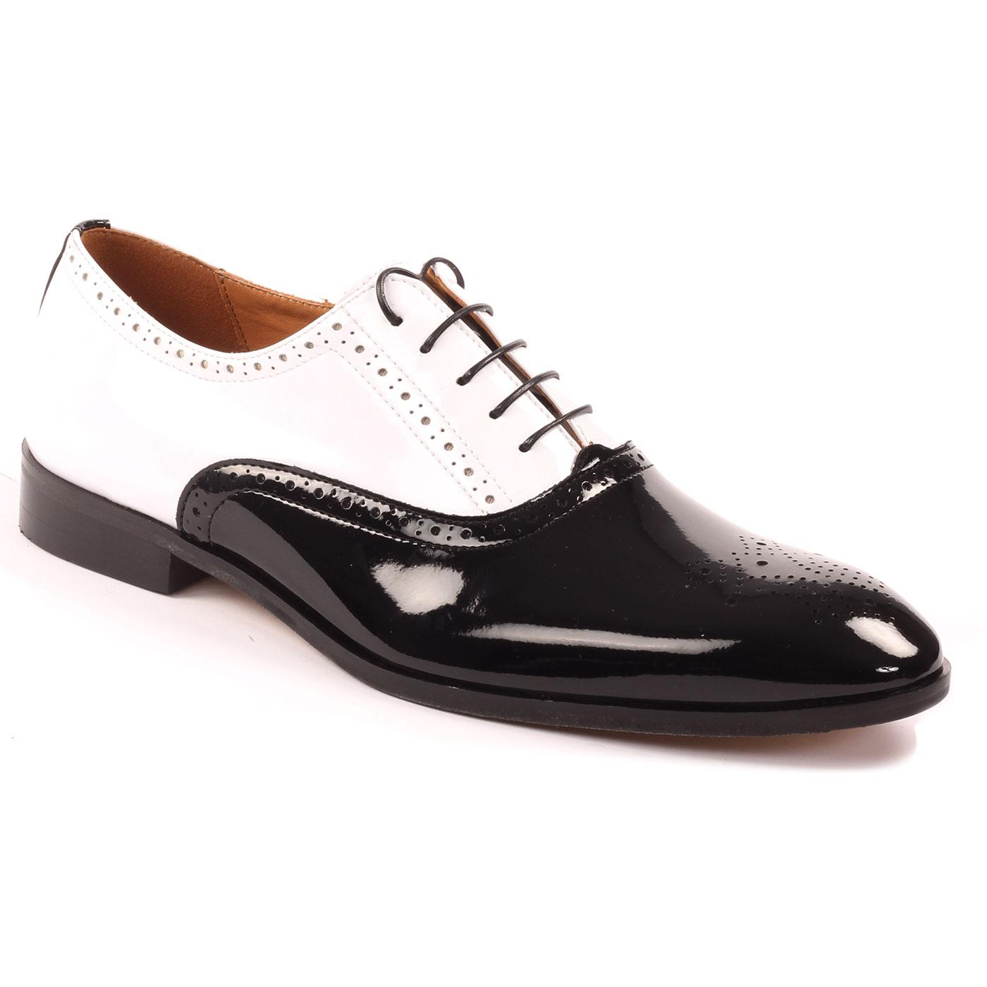 LACUZZO Mod Two Tone Patent leather Spatz Brogues