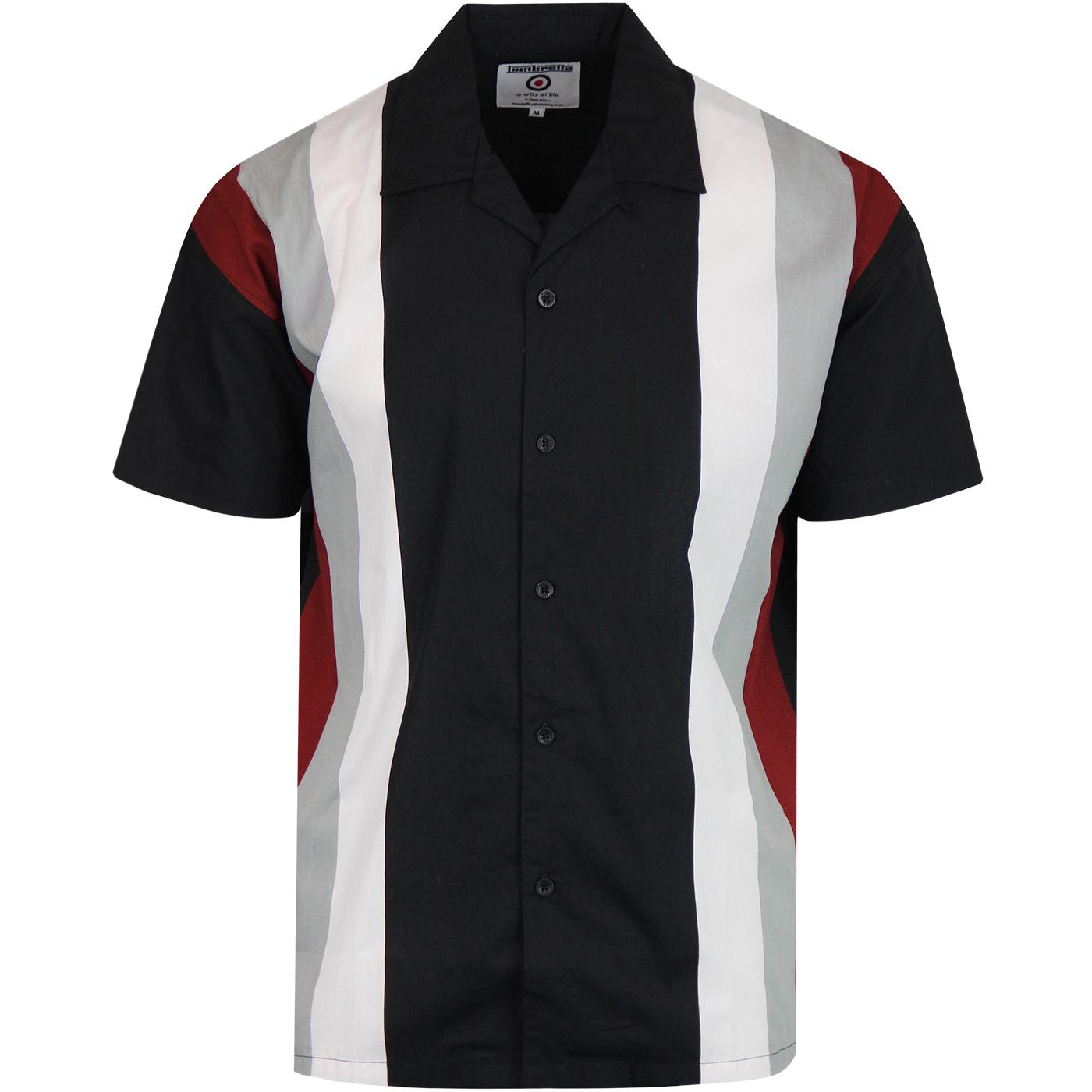 LAMBRETTA Retro Northern Soul Bowling Shirt
