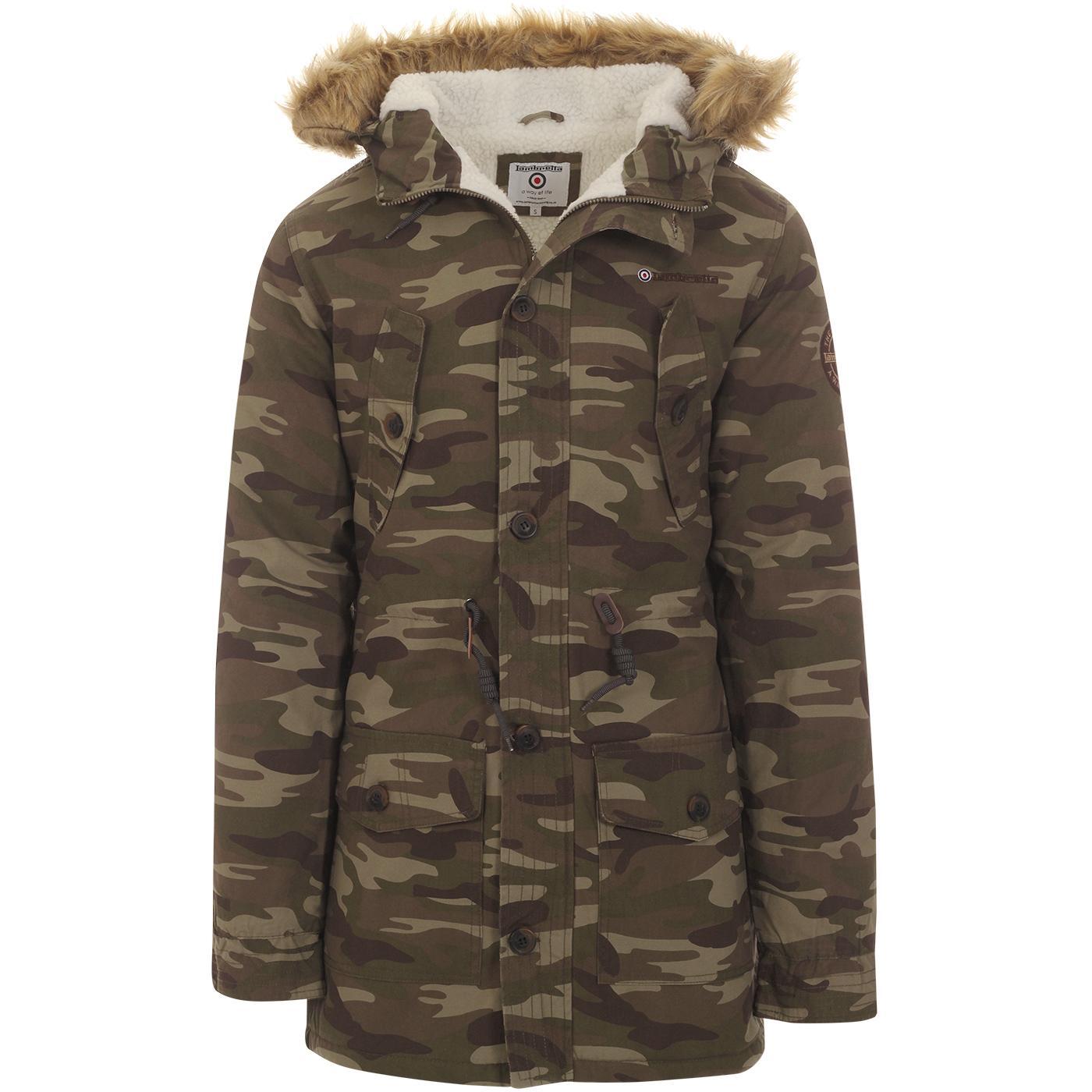 LAMBRETTA Mod Camo Hooded Fishtail Parka Jacket