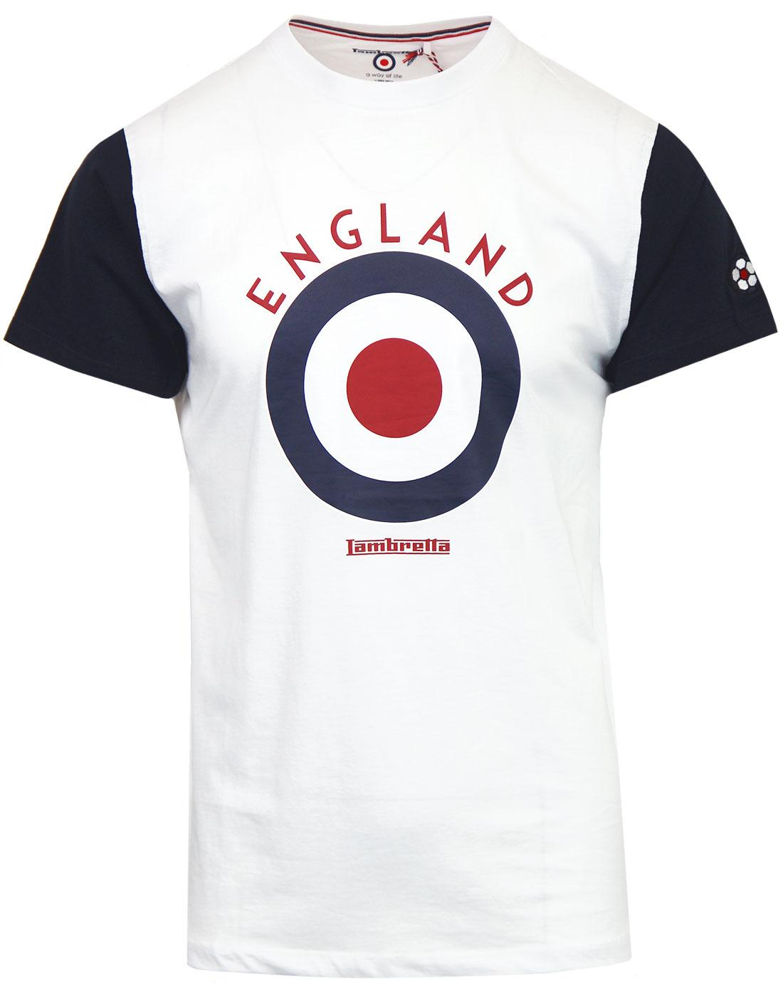 LAMBRETTA Retro Mod Target England Football Tee W