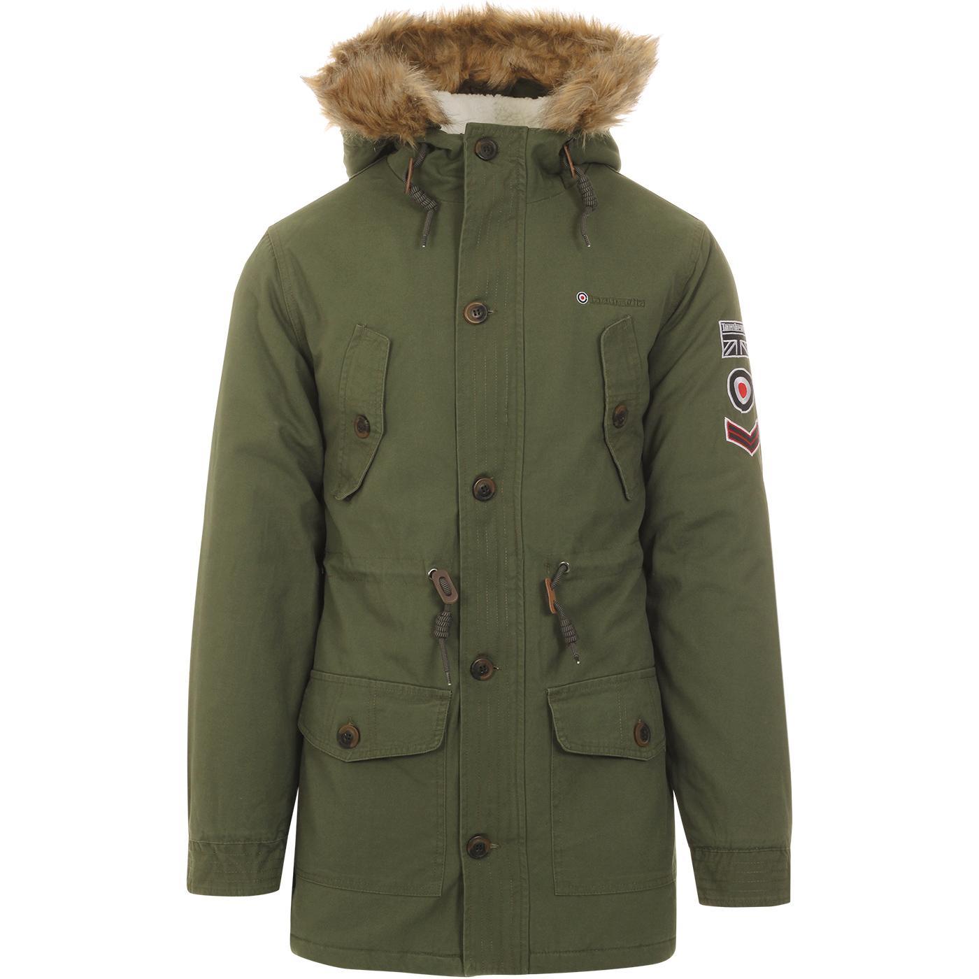 LAMBRETTA Mens Classic Mod Fishtail Parka Jacket