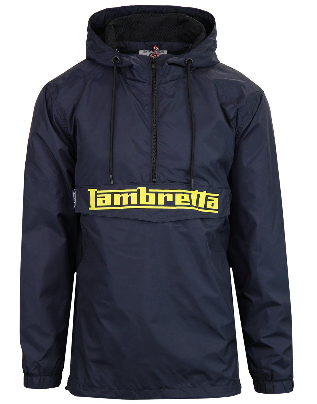 LAMBRETTA Retro Mod Overhead Cagoule Jacket NAVY