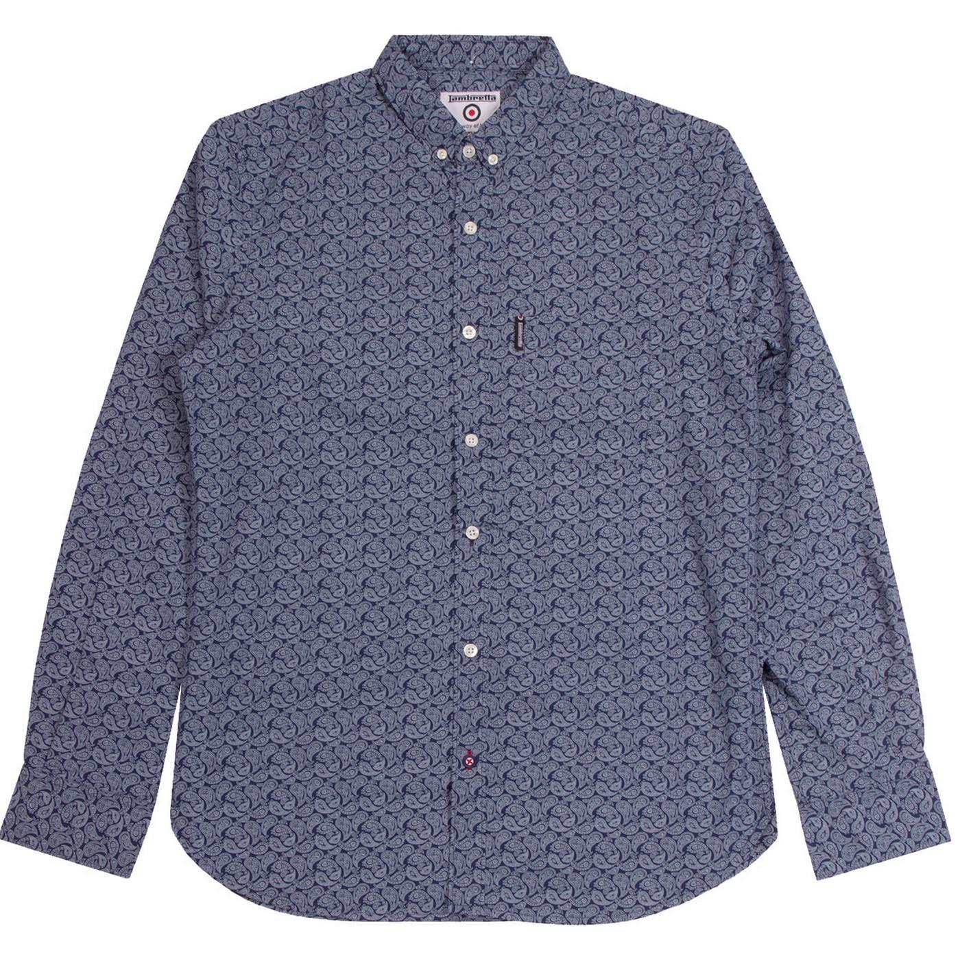LAMBRETTA All Over Print Sixties Paisley Shirt N/W