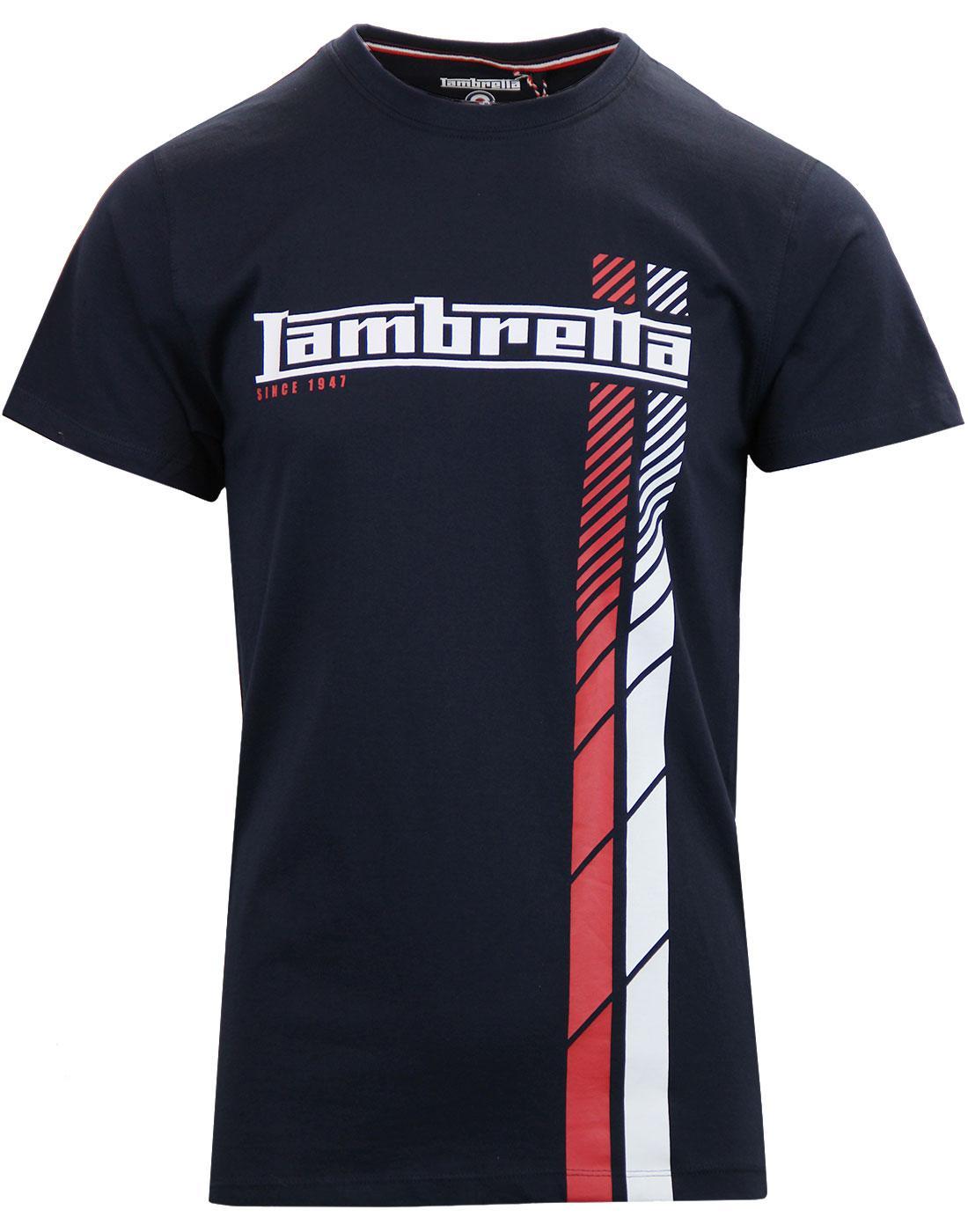 LAMBRETTA Retro Racing Stripe England Football Tee
