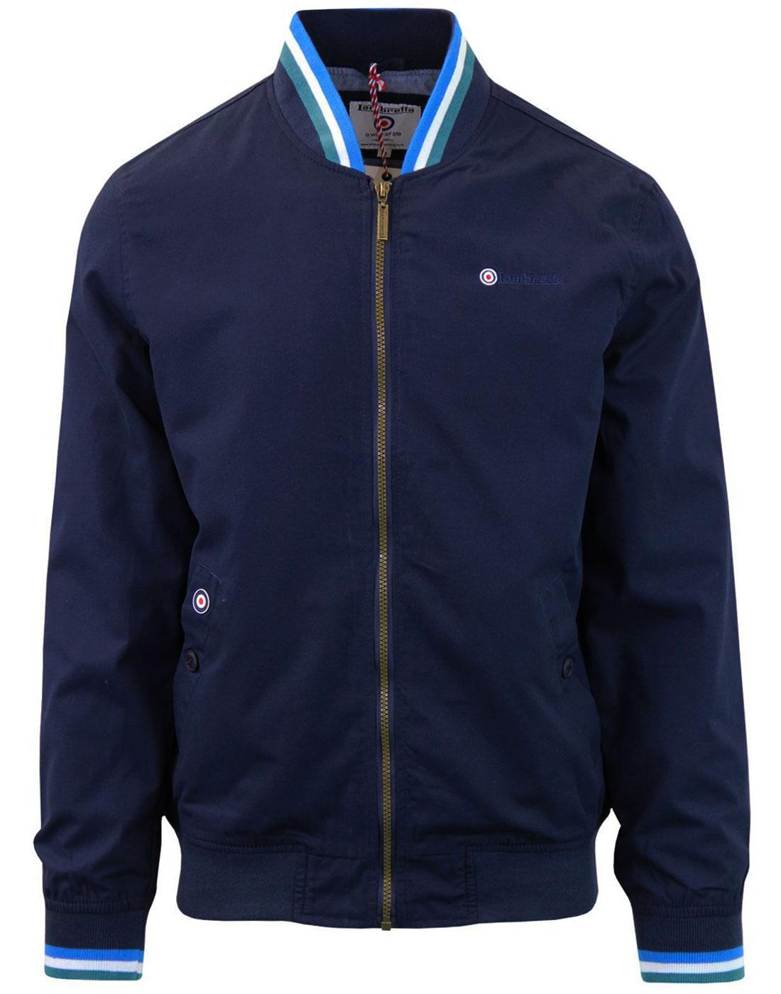 LAMBRETTA Men's Mod Tipped Monkey Jacket (NAVY)