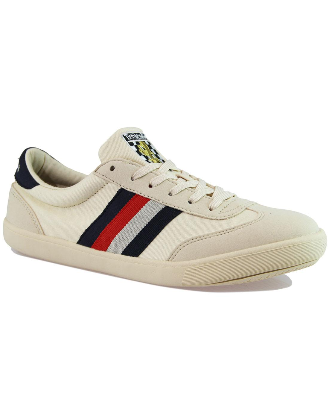 Vulcan LAMBRETTA Retro Stripe Trainers OFF WHITE