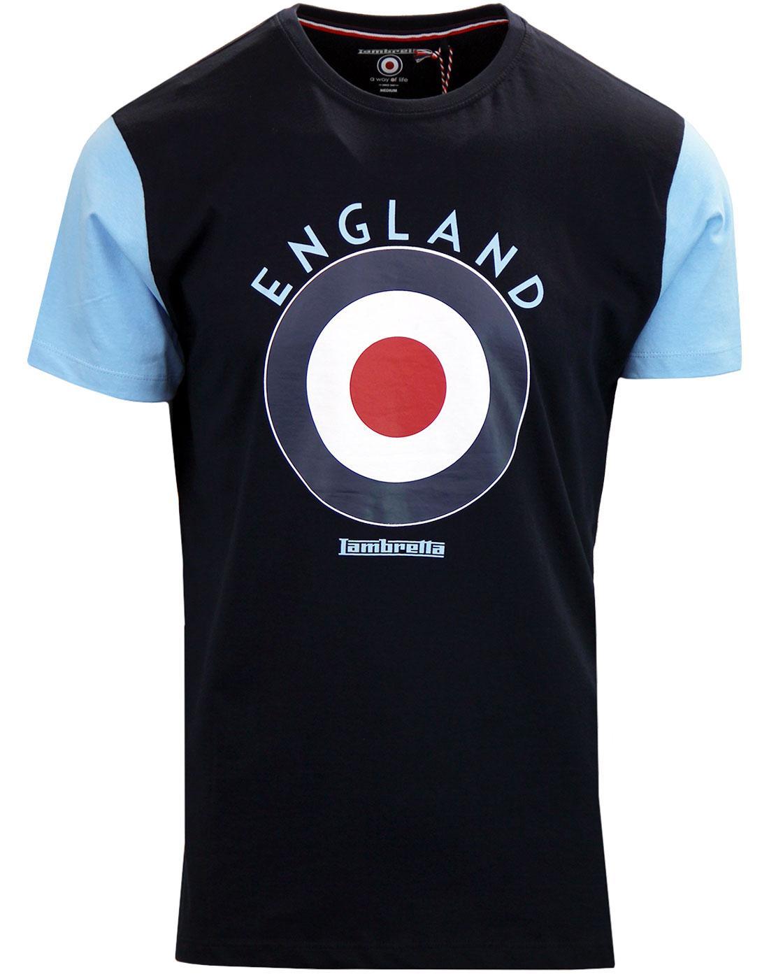 LAMBRETTA Retro Mod Target England Football Tee N