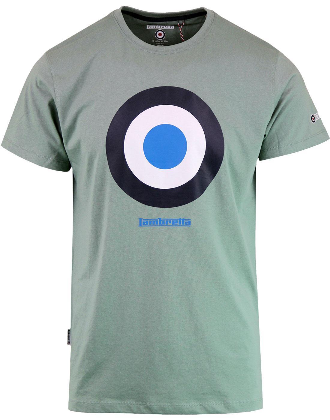 LAMBRETTA Retro Mod Target Keith Moon T-shirt SAGE