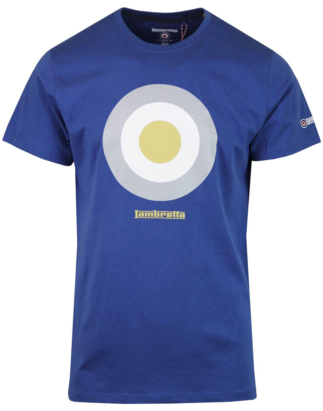 LAMBRETTA Retro Mod Target Keith Moon T-shirt BLUE