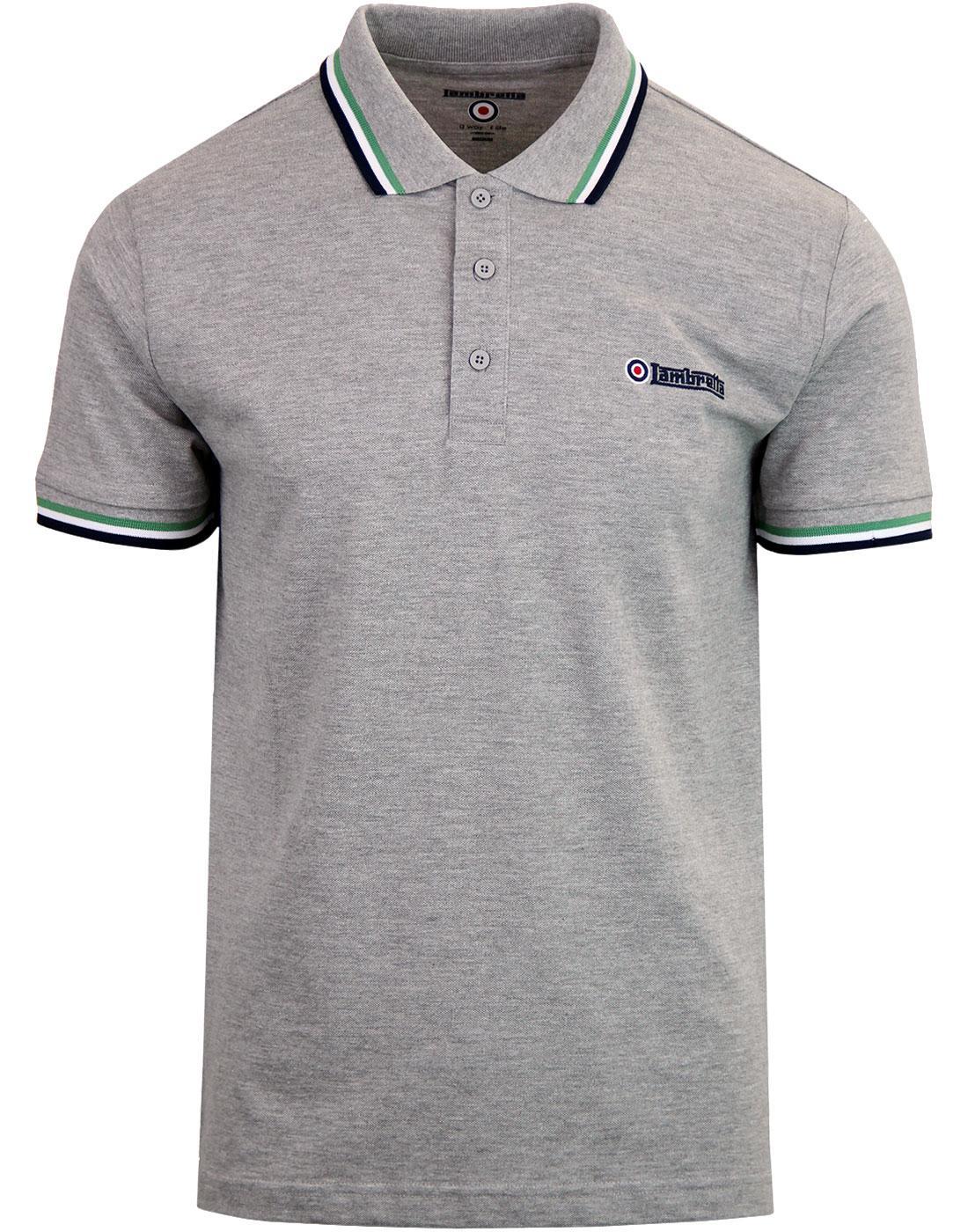 LAMBRETTA Retro Triple Tipped Pique Polo Shirt G