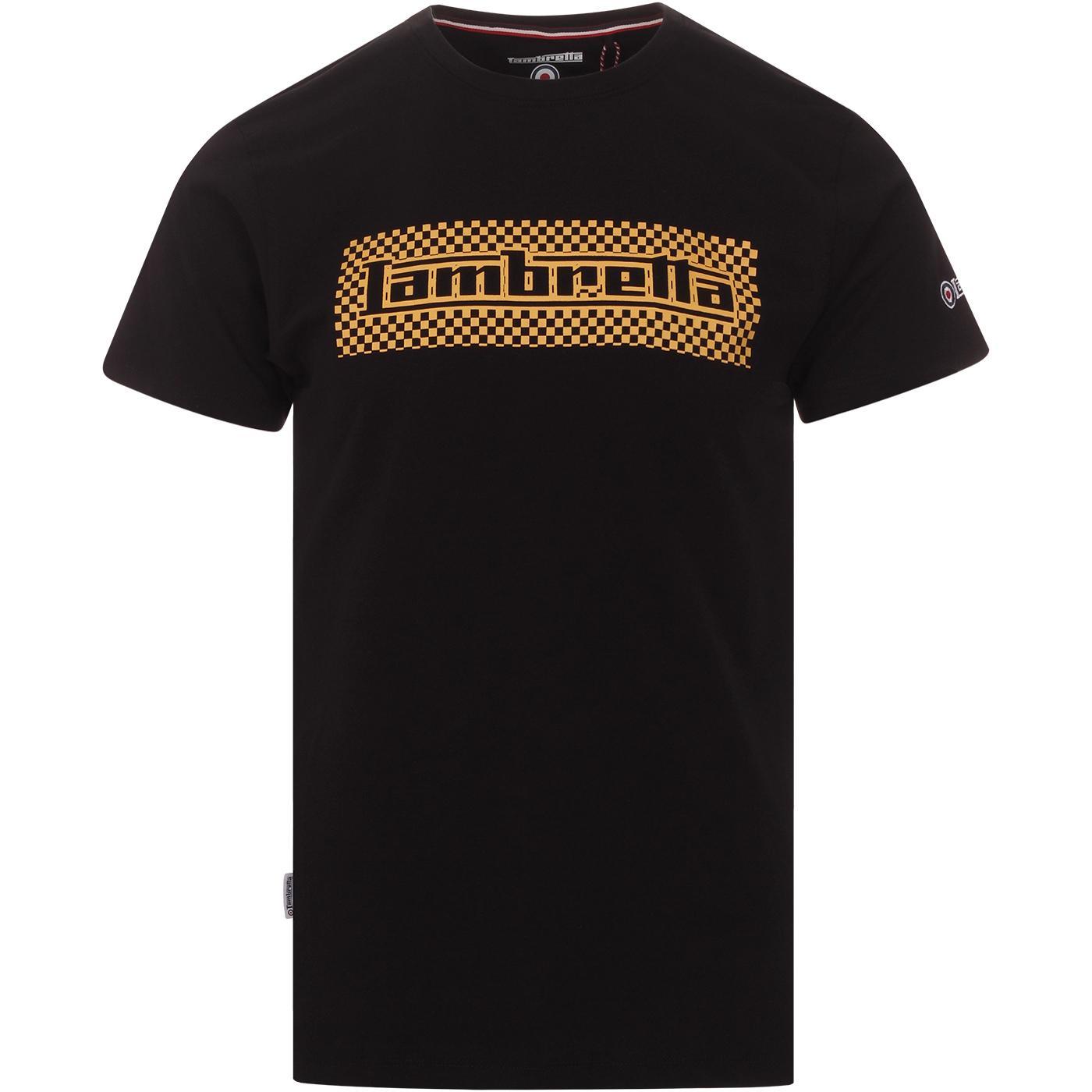 LAMBRETTA Mod Ska Checkerboard T-shirt (Black)
