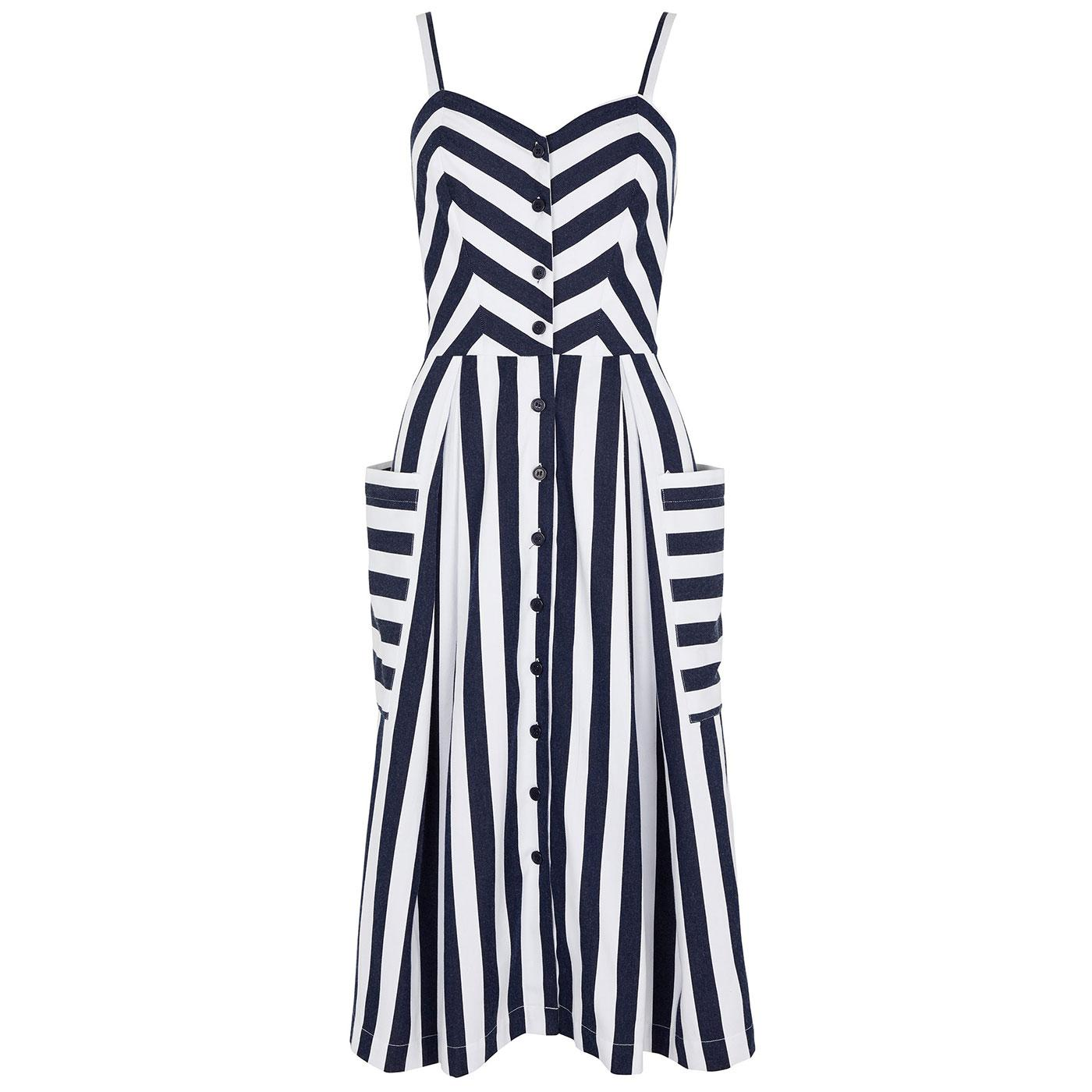 Layla EMILY & FIN Retro Nautical Stripe Sun Dress