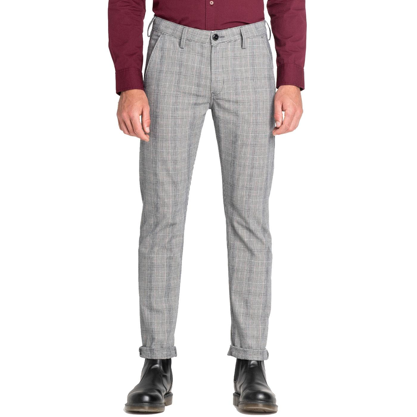 LEE JEANS Mod Prince Of Wales Check Chino Trousers