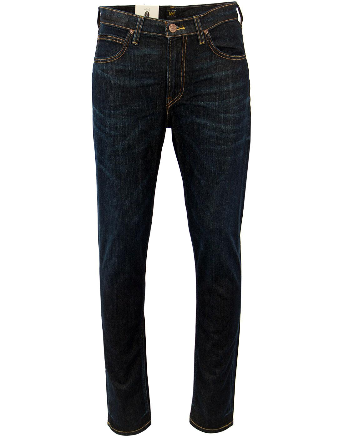 10c8aa1a Arvin LEE Retro Mod Regular Tapered Denim Jeans in Deep Sea
