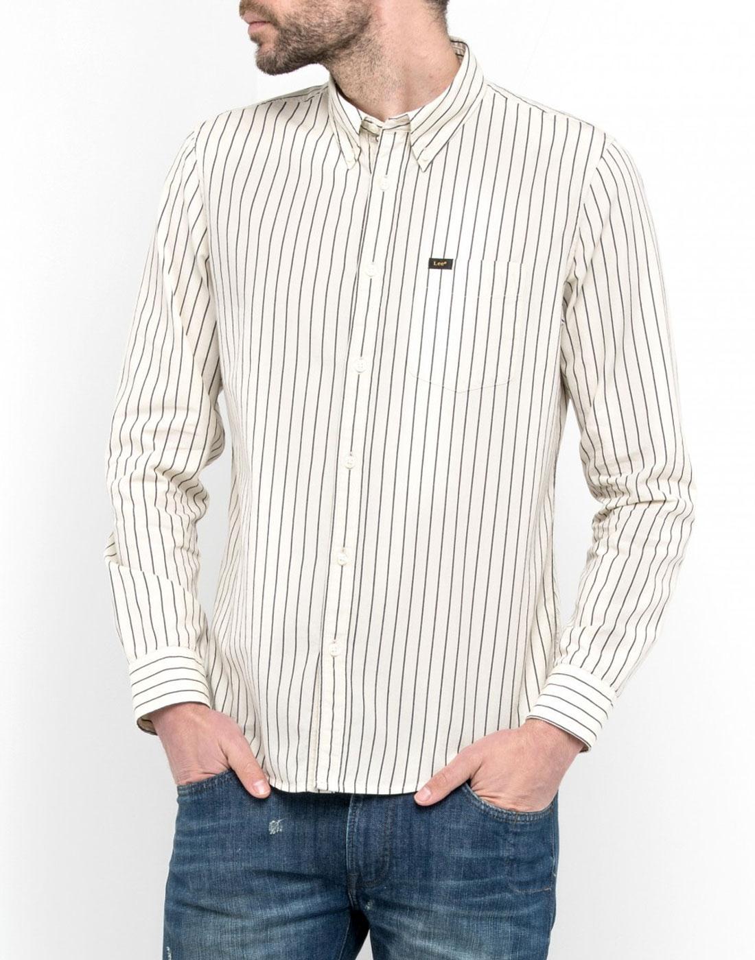 LEE Retro 90s Mod Stripe Button Down Collar Shirt