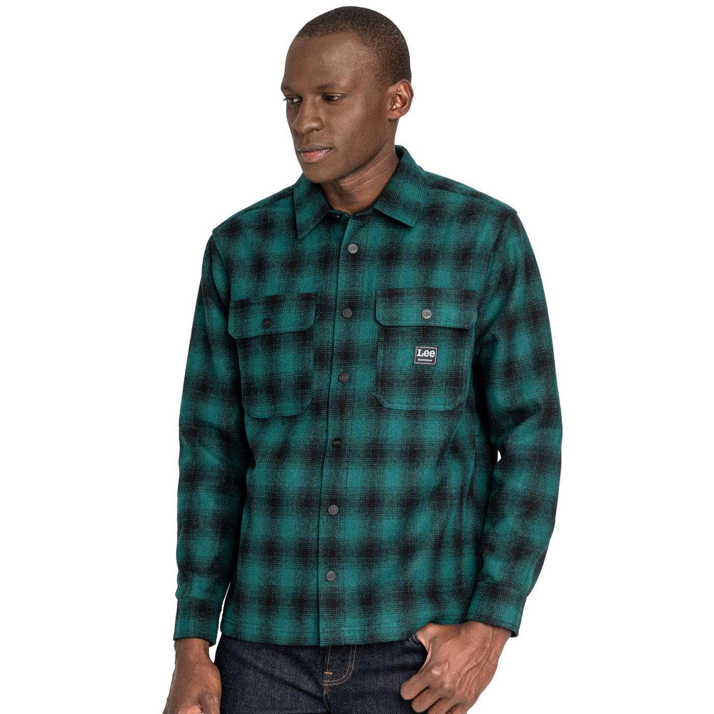 LEE JEANS Men's Retro Check Workwear Overshirt AG