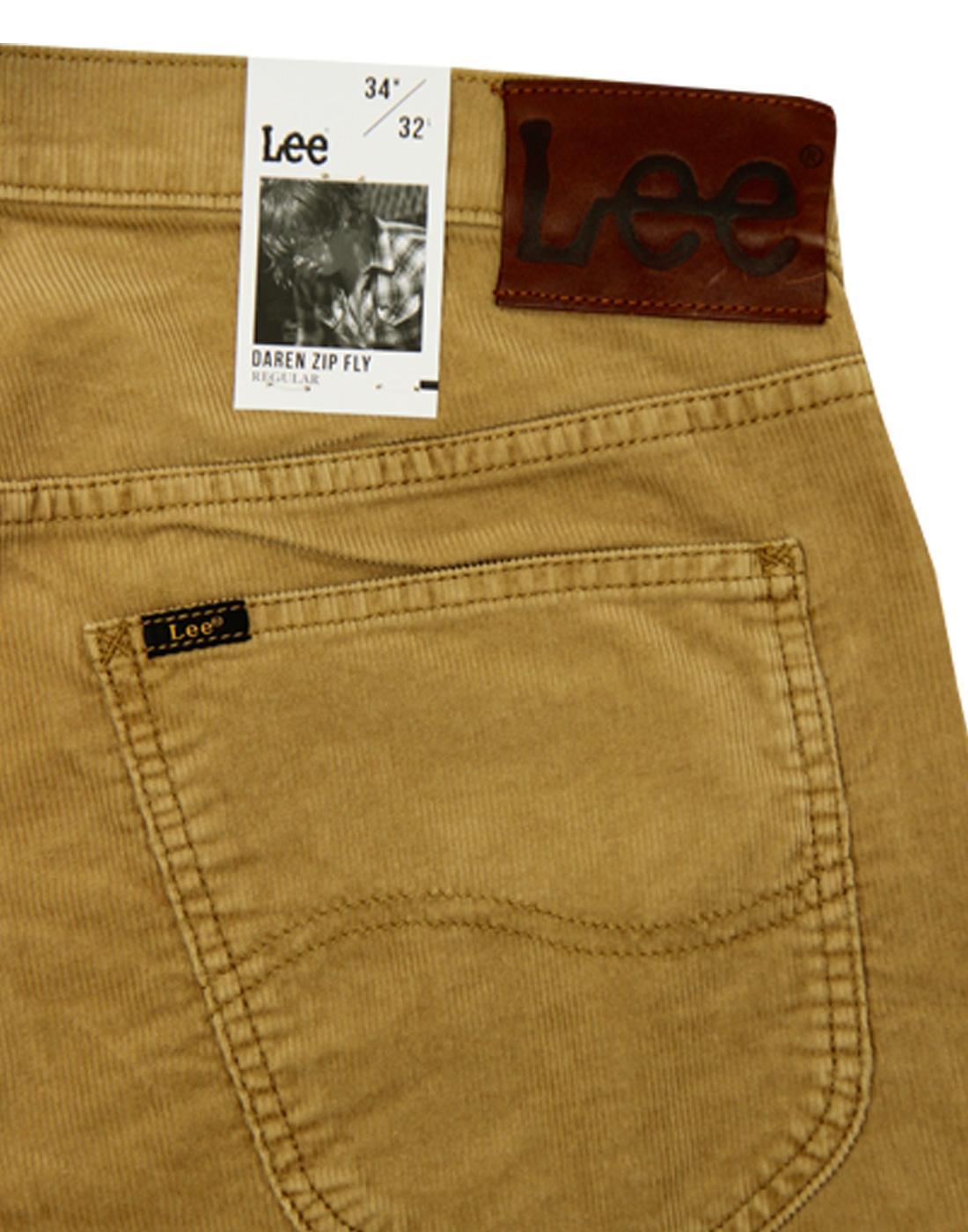d0f97c80 LEE Daren Men's Retro 60s Mod Slim Cord Trousers in Dijon Mustard