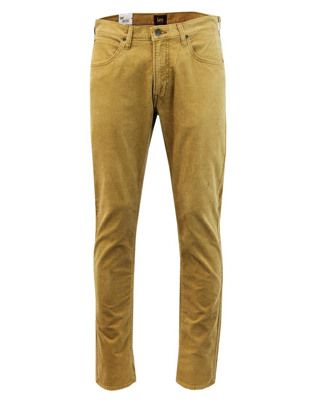 Daren LEE Men's Retro Mod Slim Cord Trousers DIJON