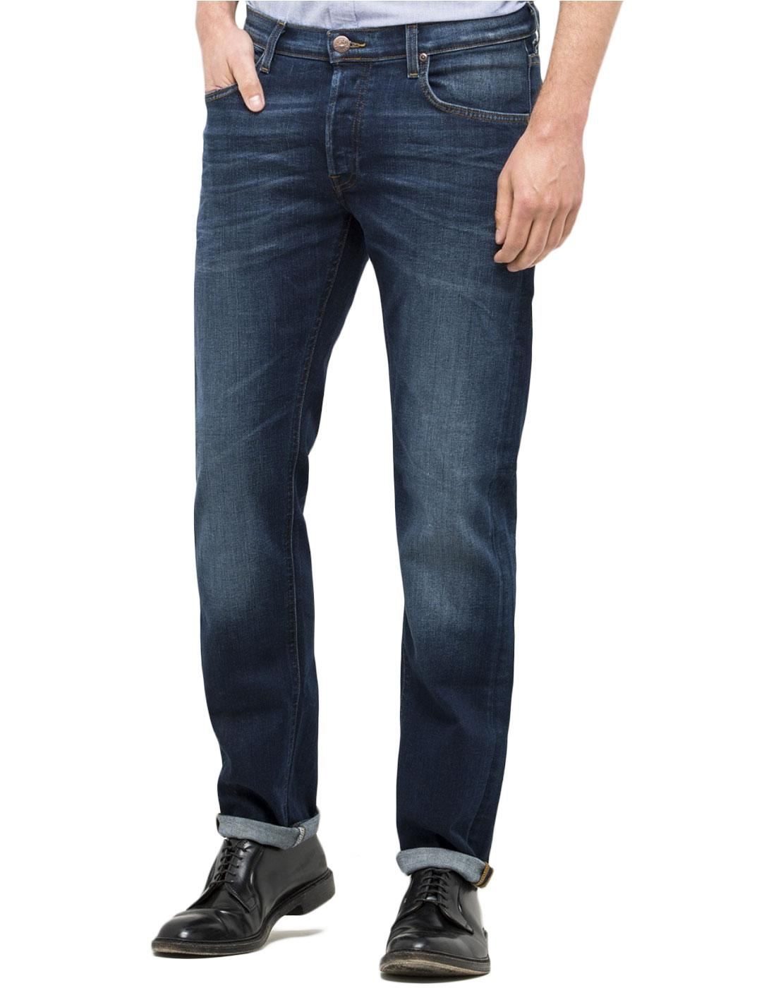 Daren LEE Mod Regular Slim Indigo Denim Jeans (BB)