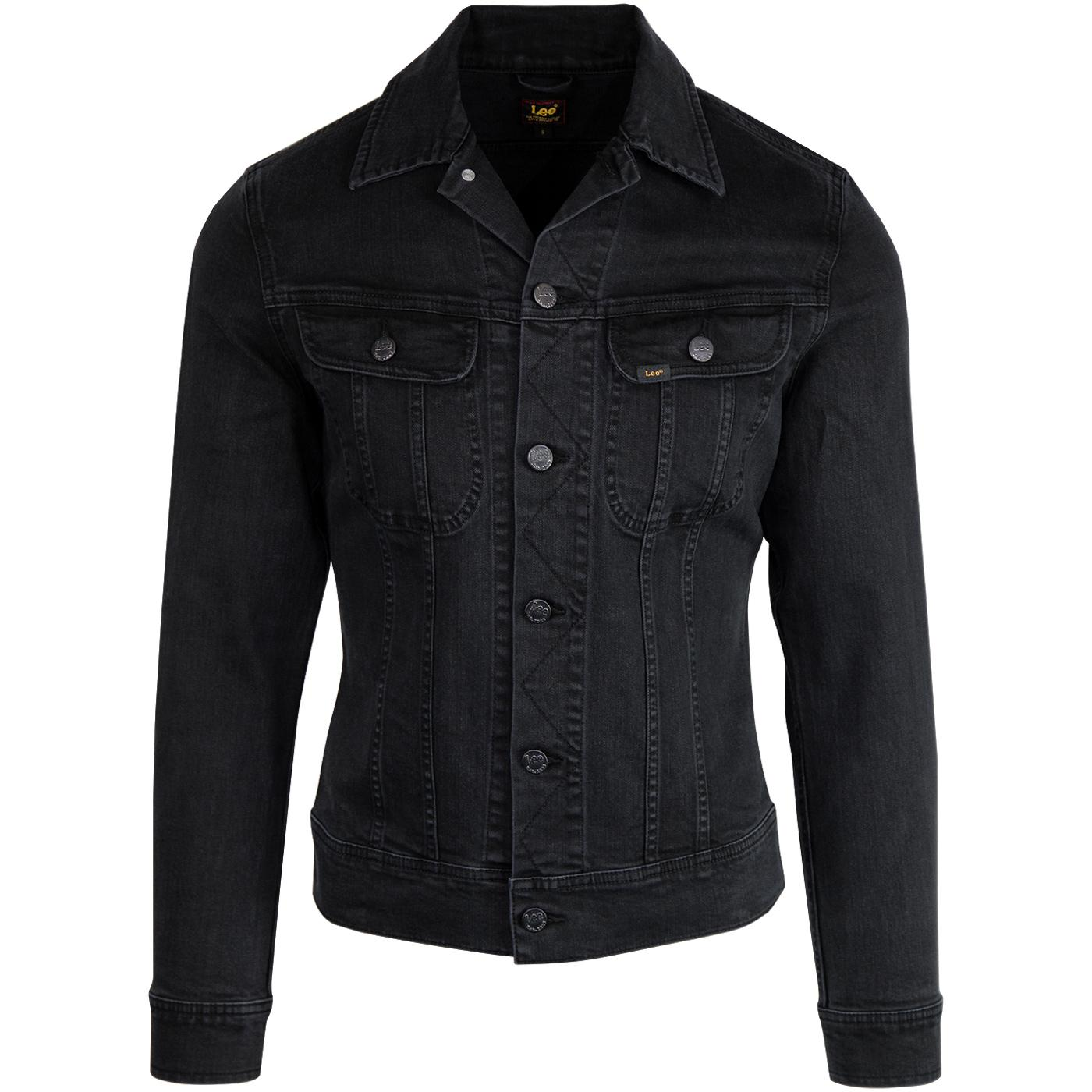 LEE Rider Retro Mod Slim Denim Jacket (Dark Raven)