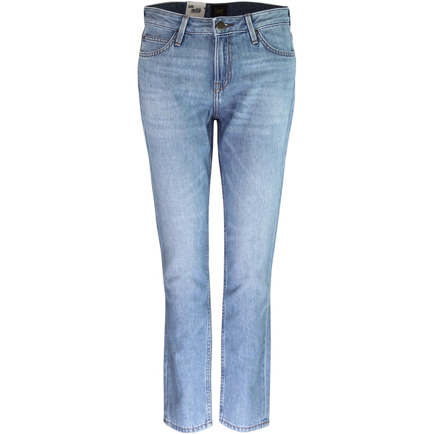 Elly LEE High Waist Slim Straight Denim Jeans (FL)