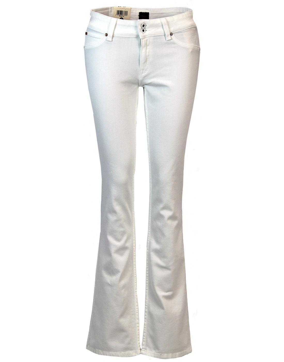 LEE Joliet Retro 1970s White Denim Bootcut Jeans