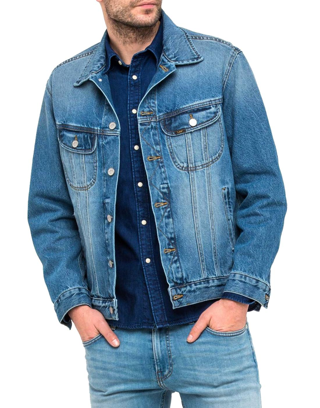 Rider LEE JEANS Retro 70s Rigid Denim Jacket Blue