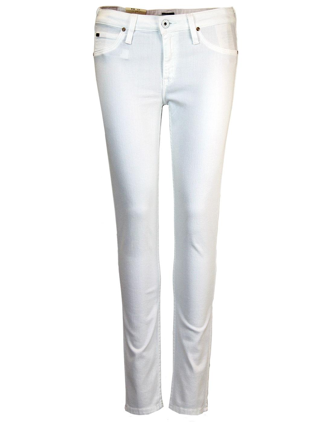 Scarlett LEE Retro Mod White Skinny Denim Jeans