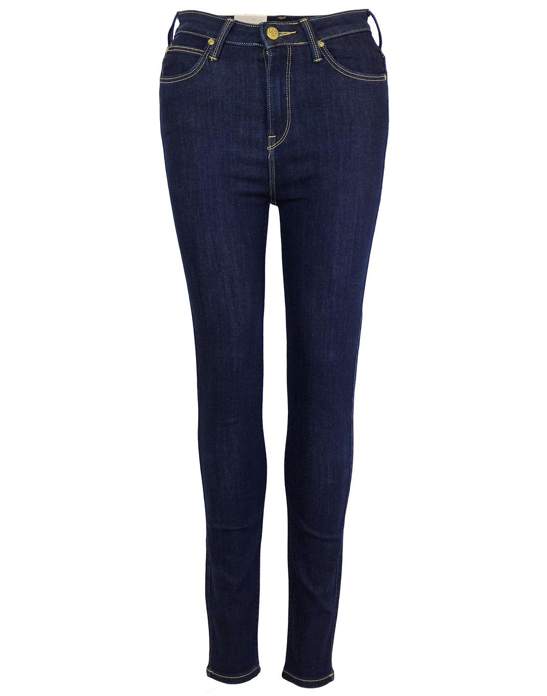 Skyler LEE Retro High Waist Skinny Denim Jeans SB