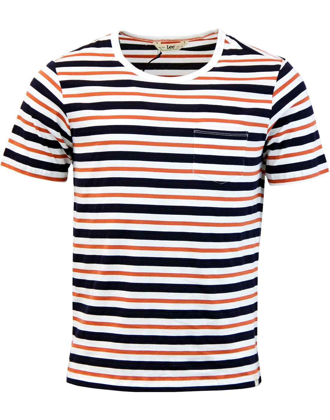 LEE Retro Indie Texture Stripe Crew Neck T-Shirt