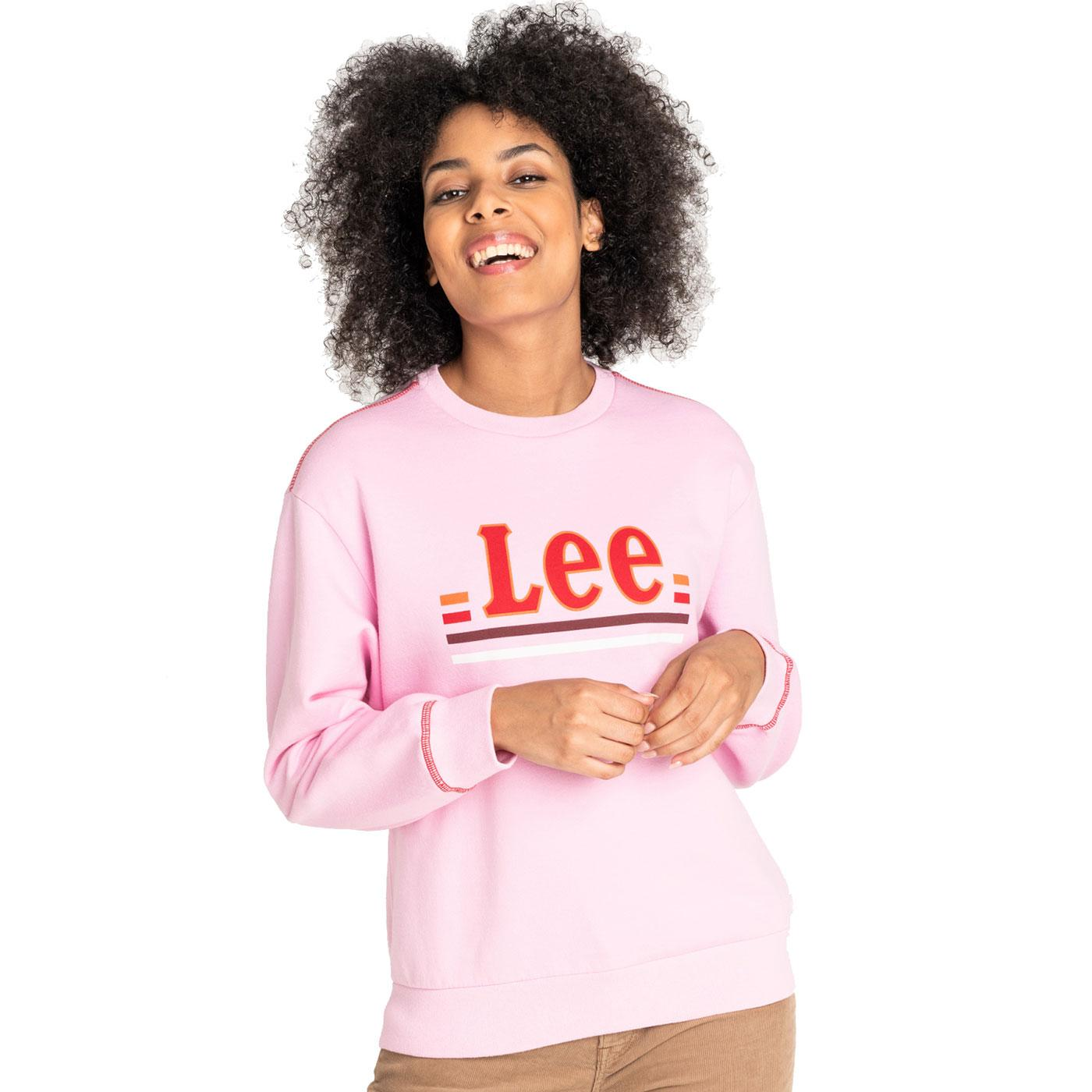 LEE JEANS Women's Crew Neck Retro Logo Sweatshirt