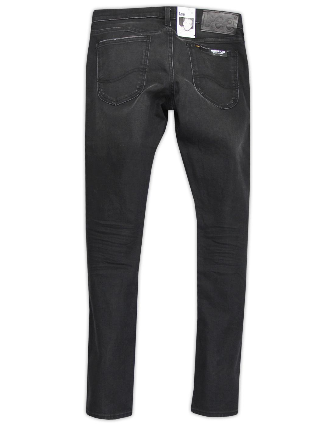 c90e5008 LEE Luke Men's Retro Indie Slim Tapered Denim Jeans in Black Worn