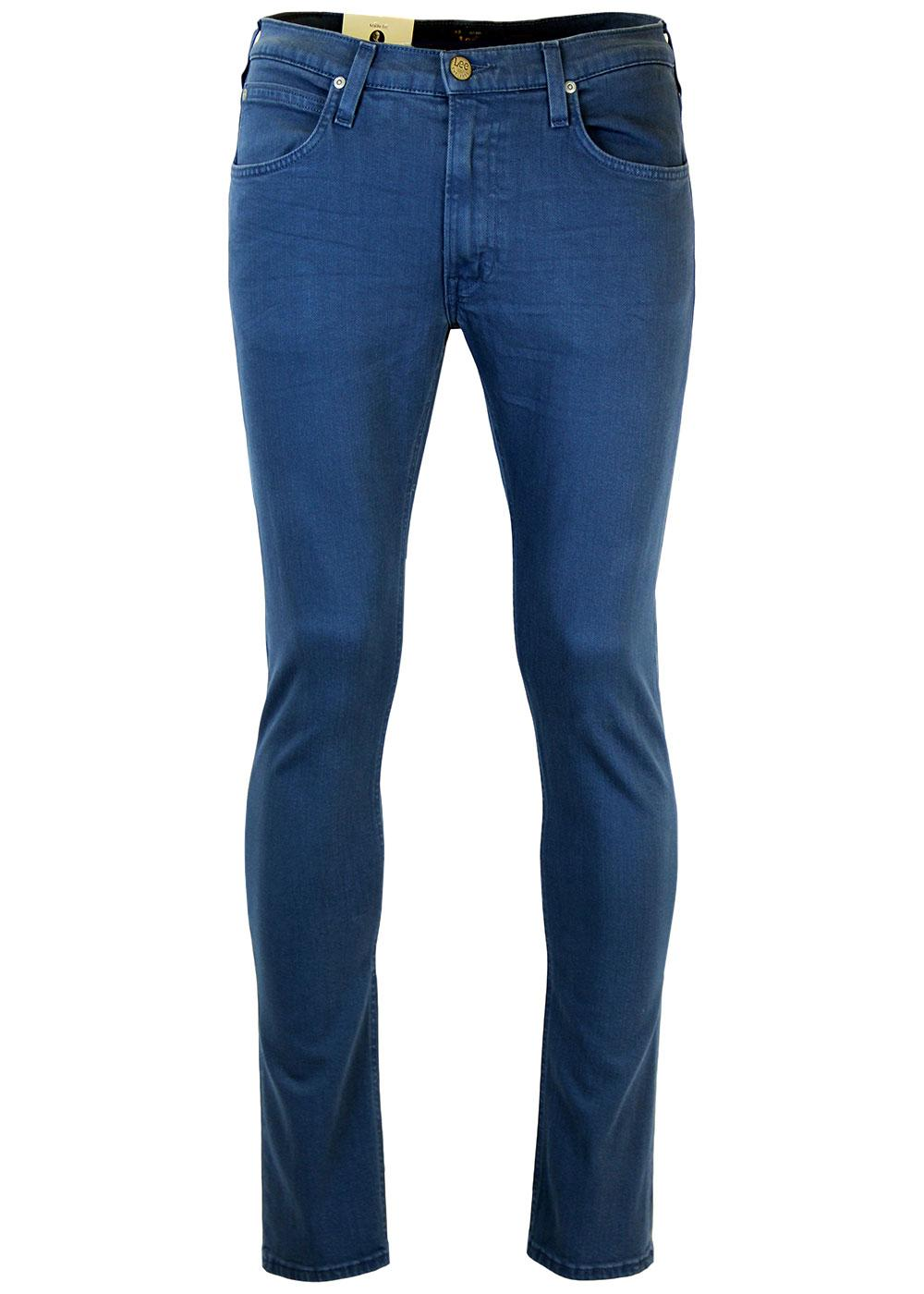 Luke LEE Retro Mod Slim Tapered Blue Denim Jeans