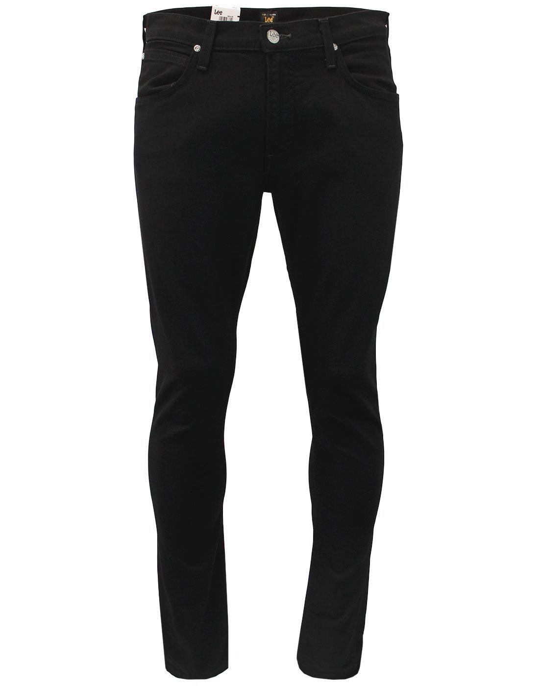 05afeadd LEE Luke Men's Retro Mod Slim Tapered Denim Jeans in Clean Black