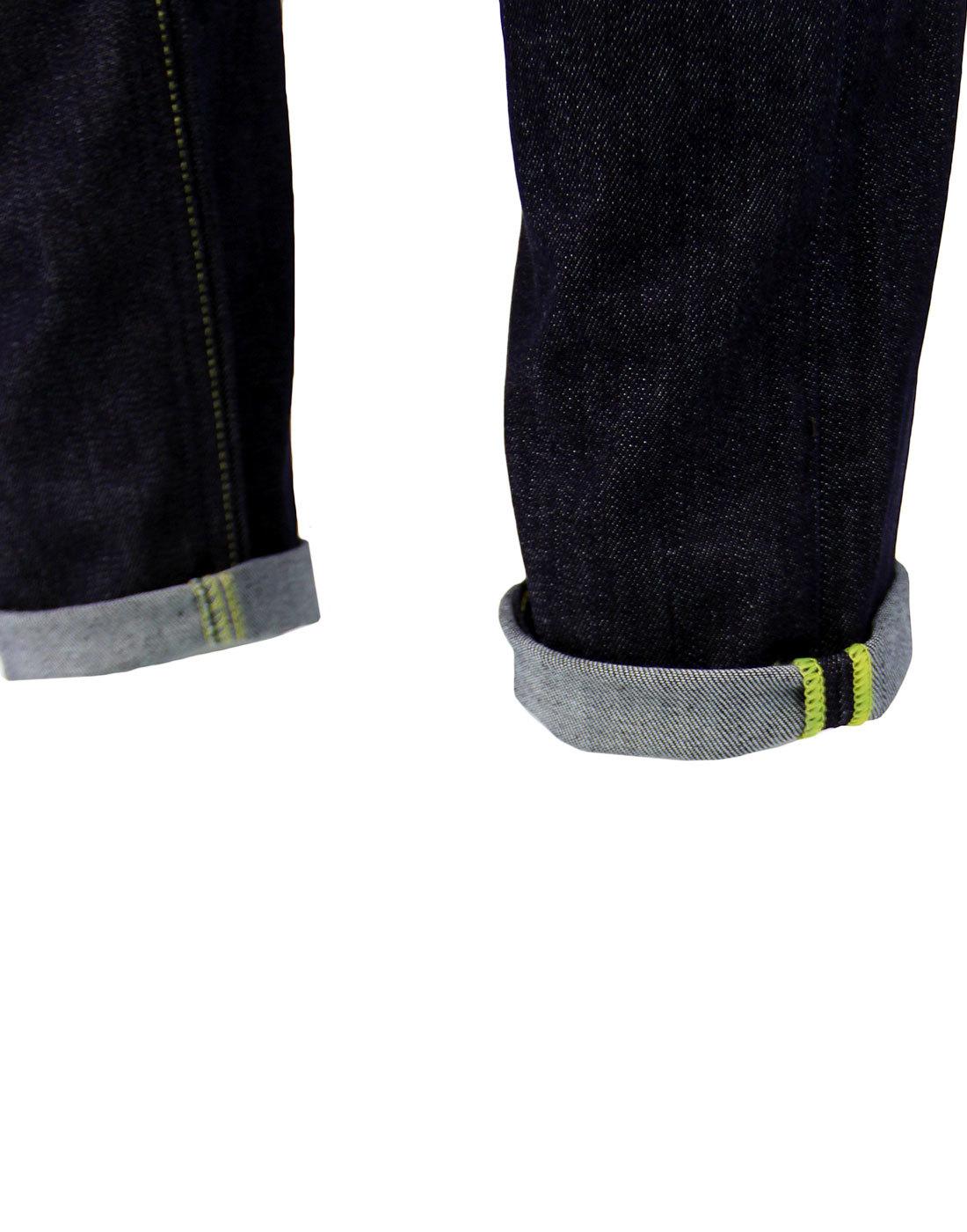 44fe6187 Luke LEE Retro Indie Mod Slim Tapered Denim Jeans in Urban Dark