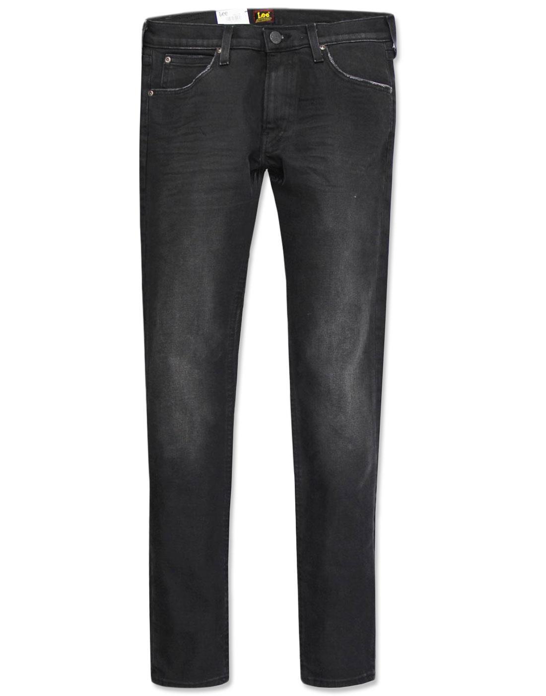 Luke LEE Retro Indie Slim Tapered Black Worn Jeans