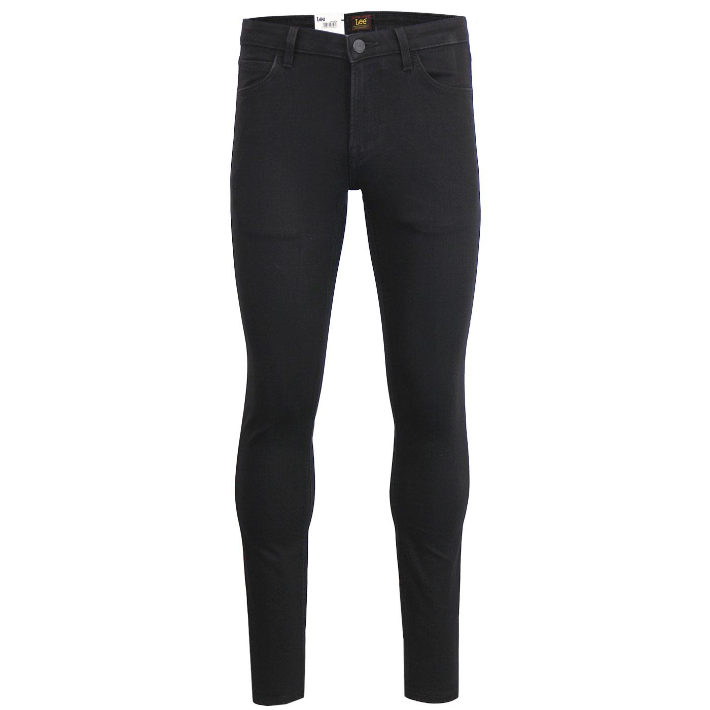 Malone LEE Men's Retro Skinny Denim Jeans (Black)