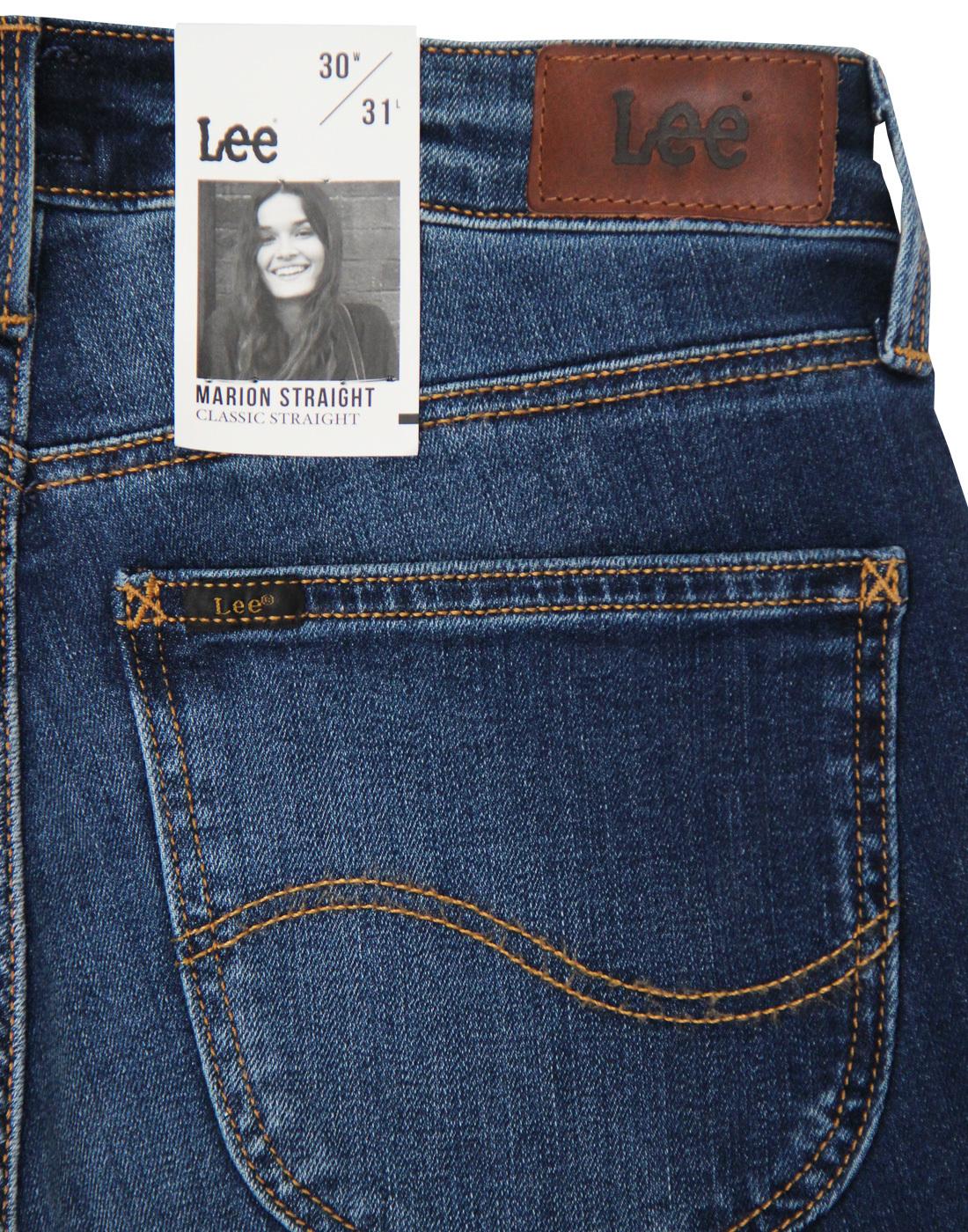 1cd41488 LEE Marion Classic Straight Retro 70s Night Sky Denim Jeans