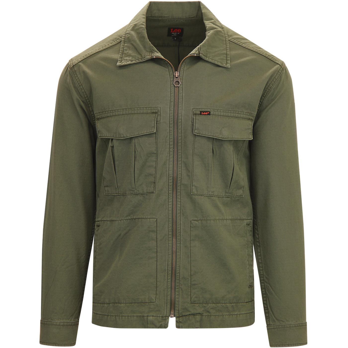 LEE JEANS Retro Military Fatigue Overshirt Jacket