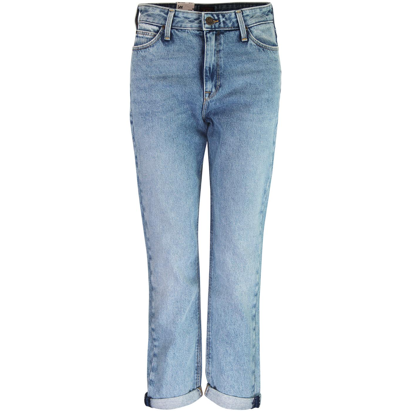 7f4860de LEE Mom Straight Curved High Waist Retro Jeans in Gaslight