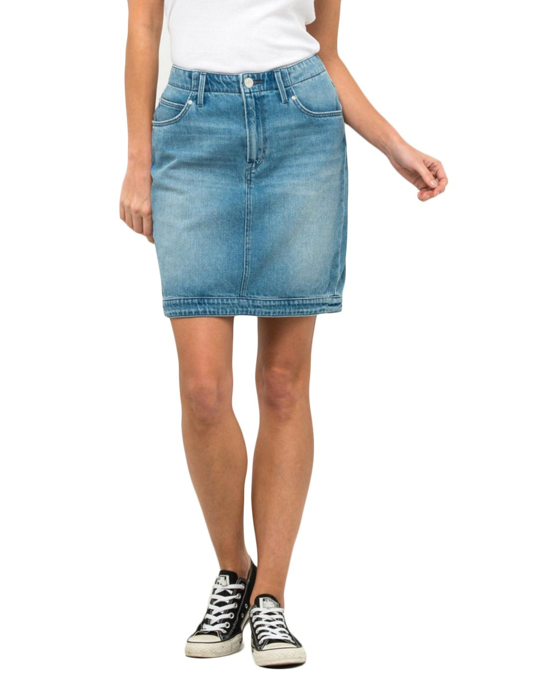 Mom LEE JEANS Womens Retro 90s Denim Pencil Skirt